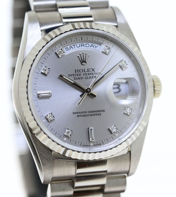 Rolex Oyster Perpetual Day Date Ref 18239 18ct White Gold With