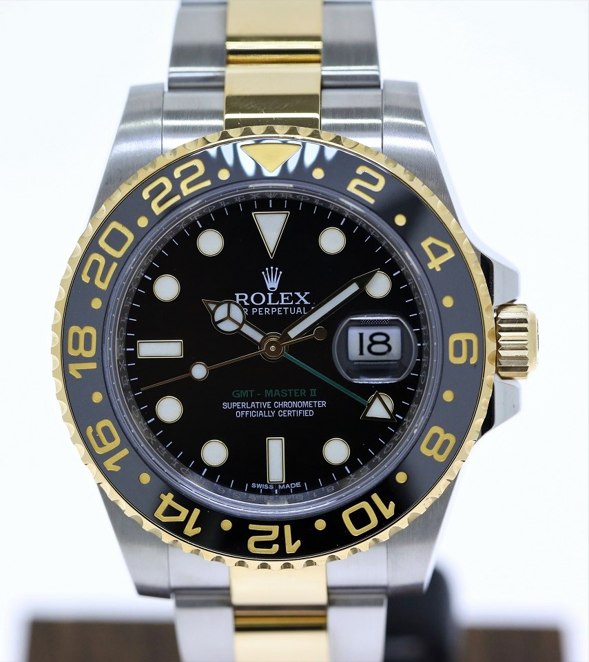 Rolex Gmt Master Ii Two Tone 18ct Yellow Gold And Stainless Steel On