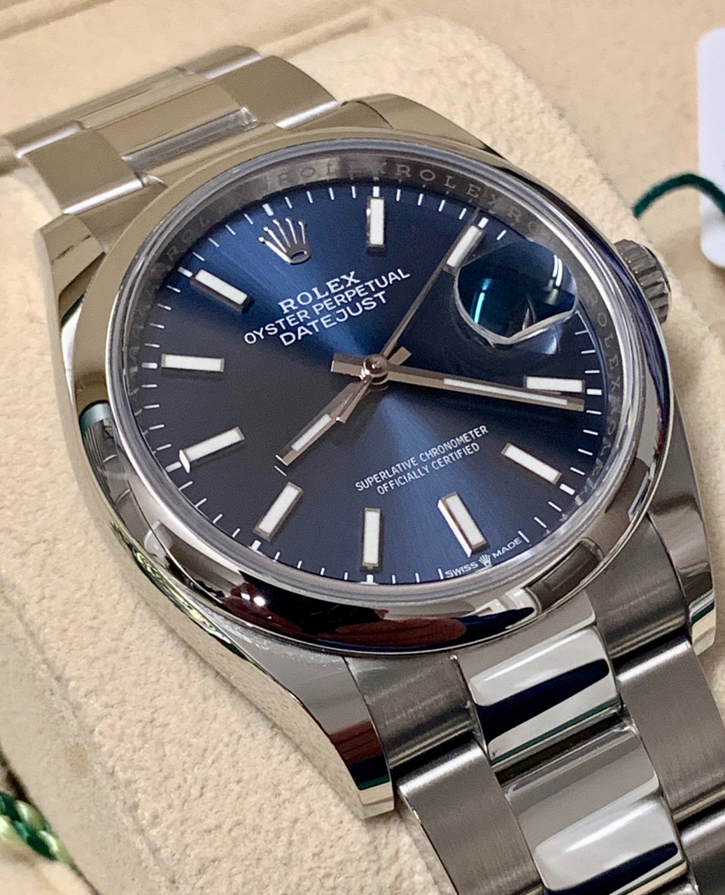 Rolex Datejust 36mm in Oyster Steel, the latest model ref 126200 on Oyster  Bracelet Ca. 2019 with Box and Papers