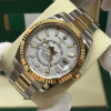 Rolex Skydweller Steel & Gold, White Dial